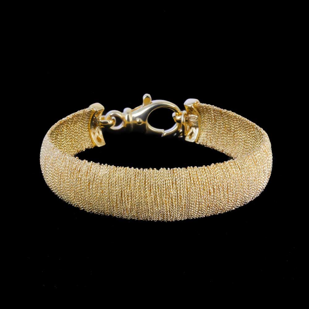 Elegante vergulde smalle armband
