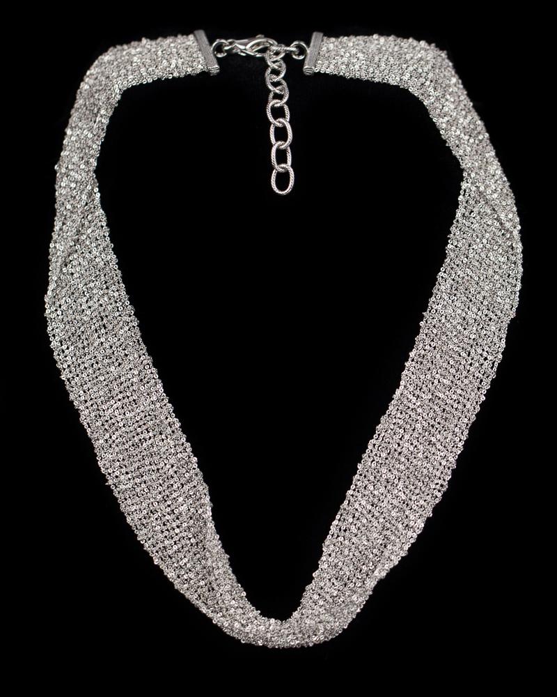 Ketting van verweven zilver