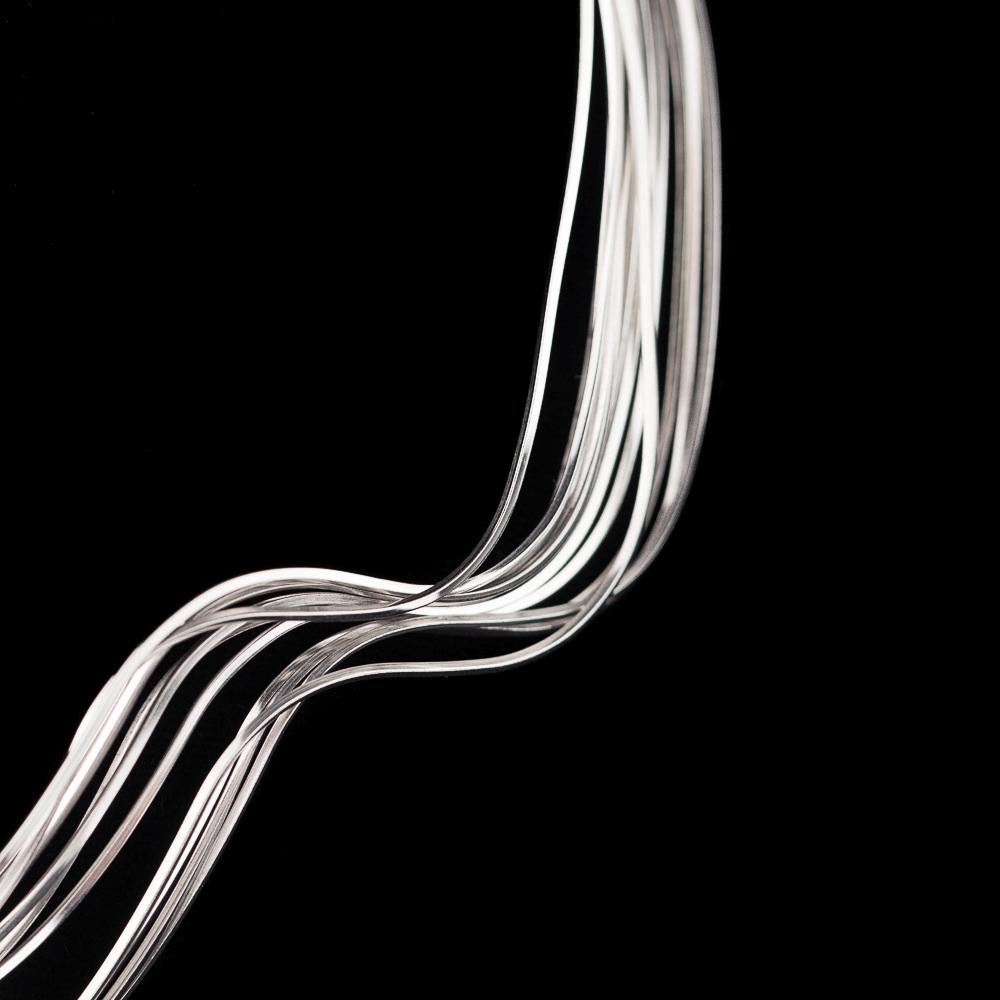 Golvende meerdradige ketting van zilver