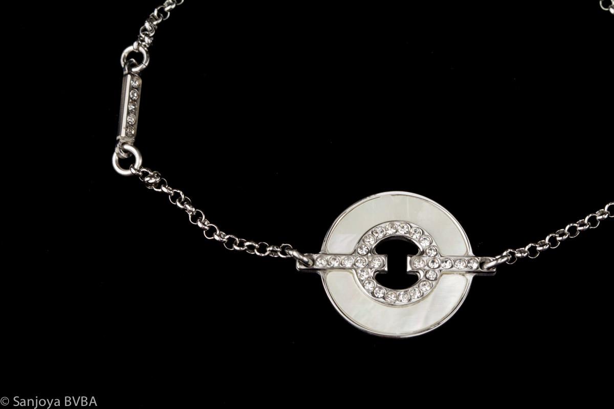 Fijn zilveren armbandje met parelmoer