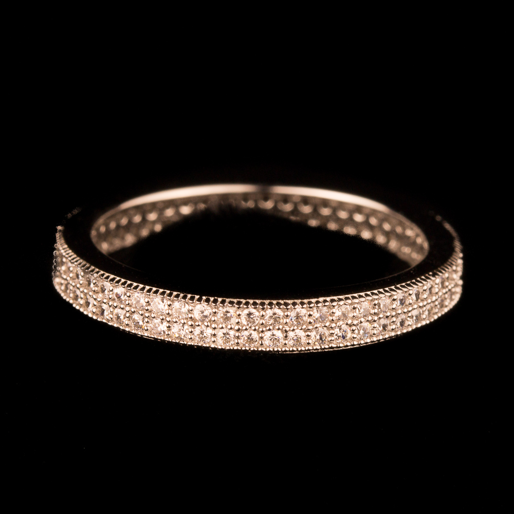 Charmante rosé ring met zirkonia