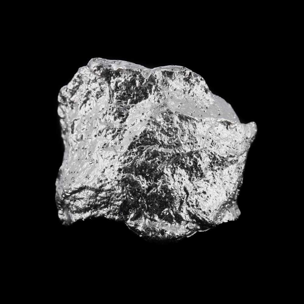 Schitterende steenvormige zilveren ring