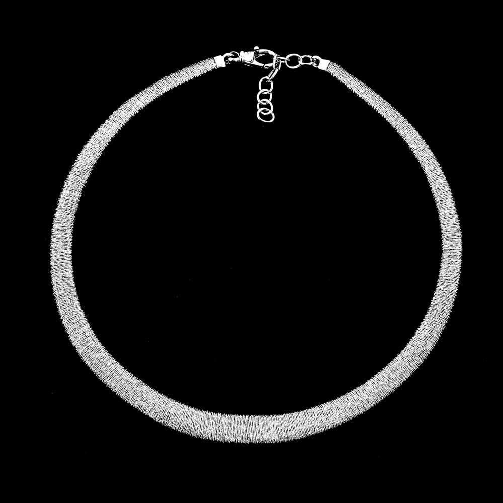 Elegante zilveren smalle ketting