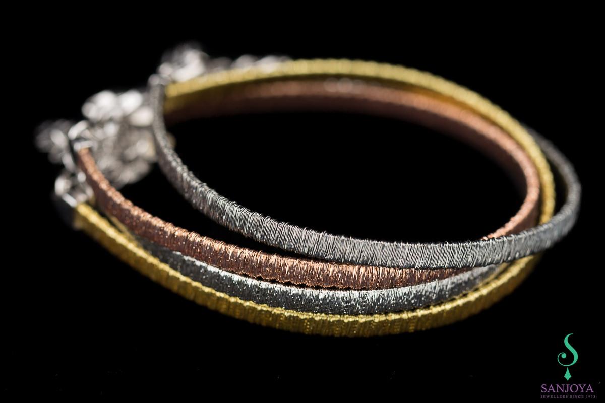 Verfijnde grijze armband van sterling zilver, 4mm