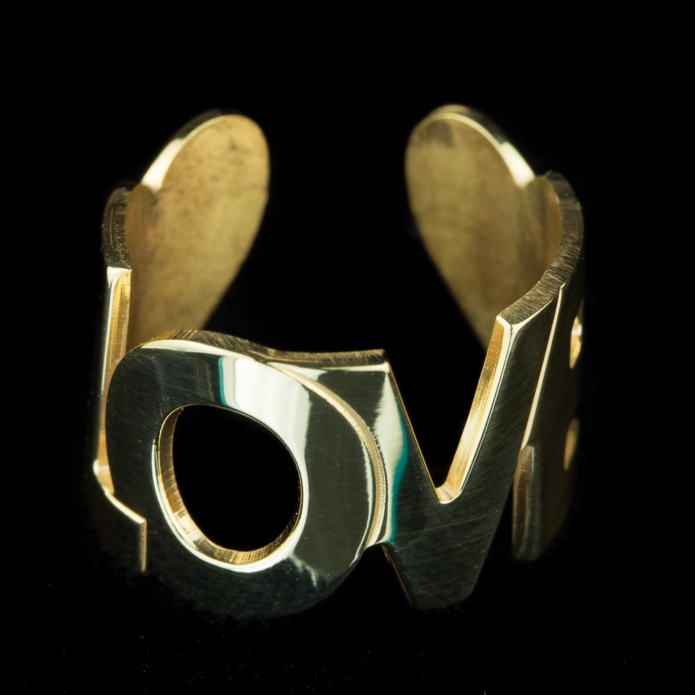 Vergulde LOVE ring