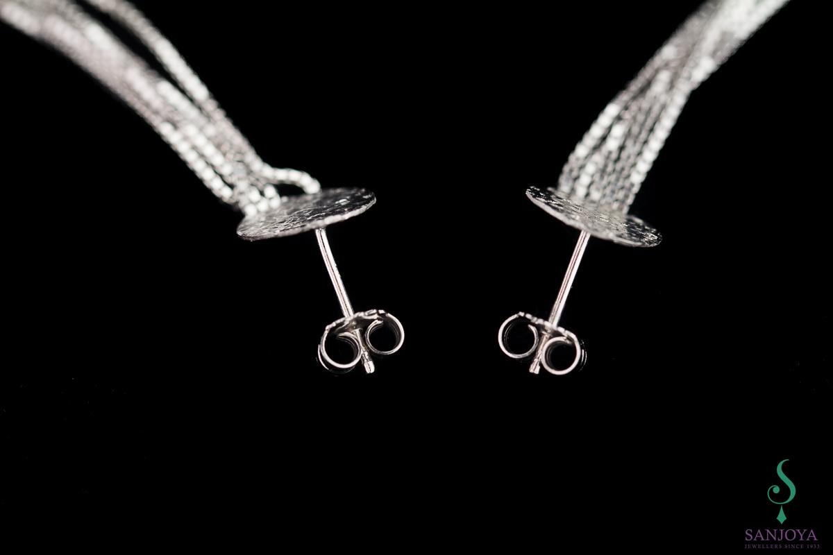 Sanjoya zilveren en lange oorbellen