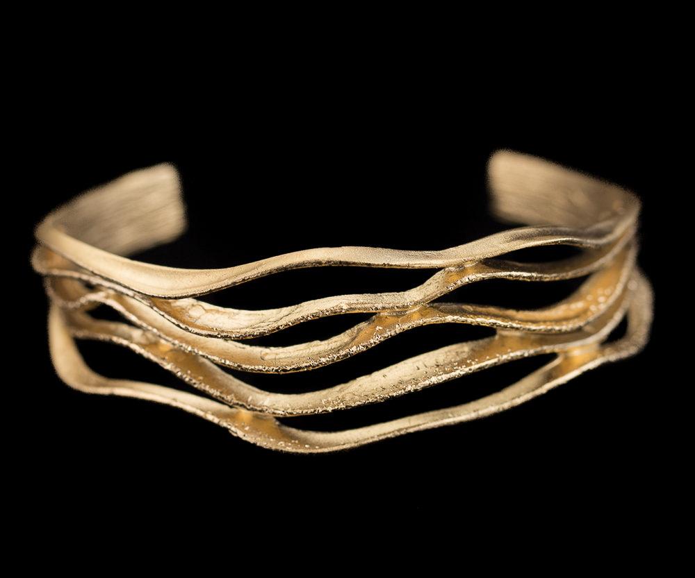 Magnifieke gediamanteerde armband van verguld zilver