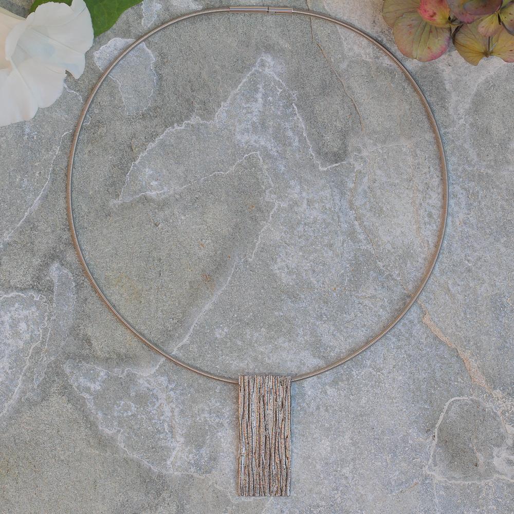 Grijze rechthoekige schitterende hanger
