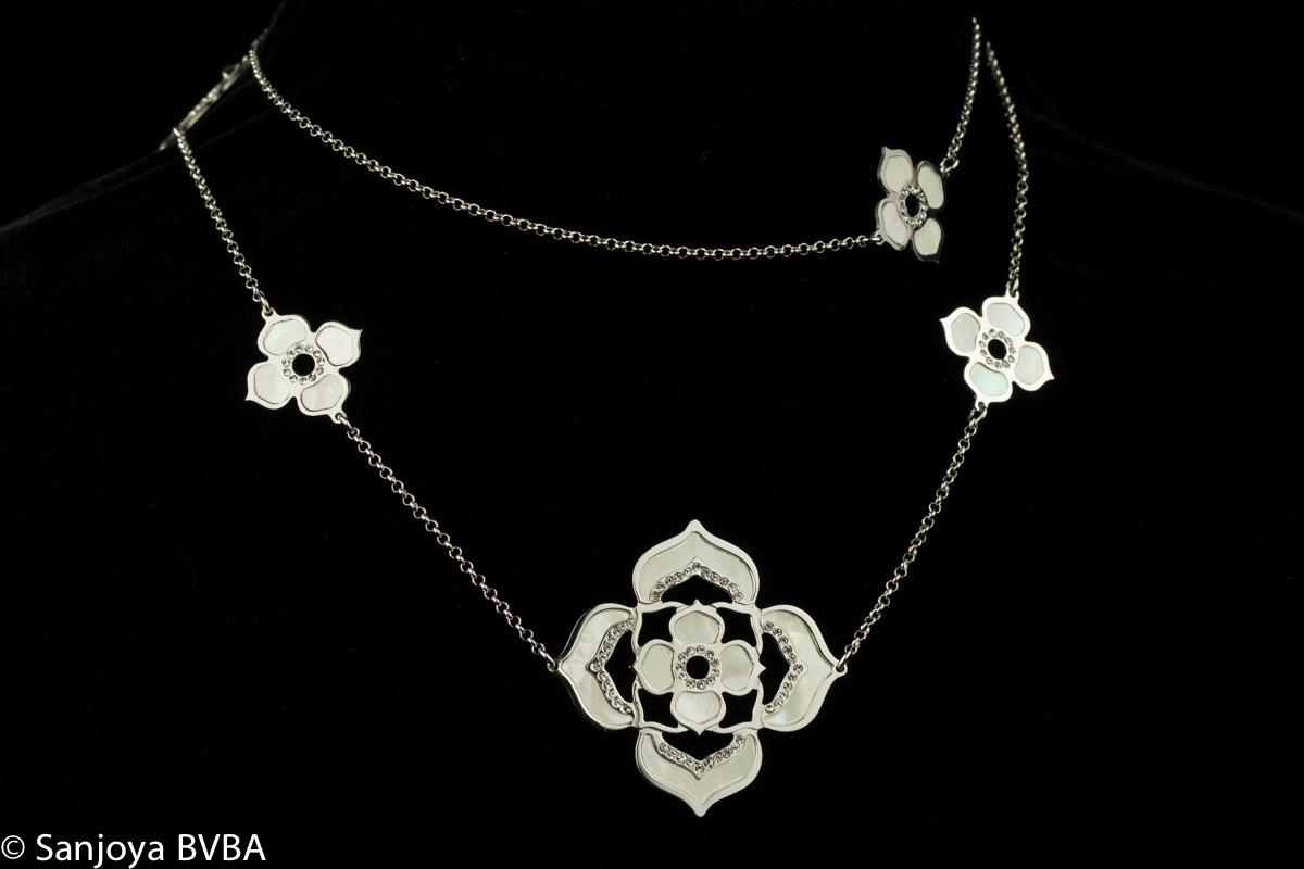 Italiaanse lange bewerkte halsketting