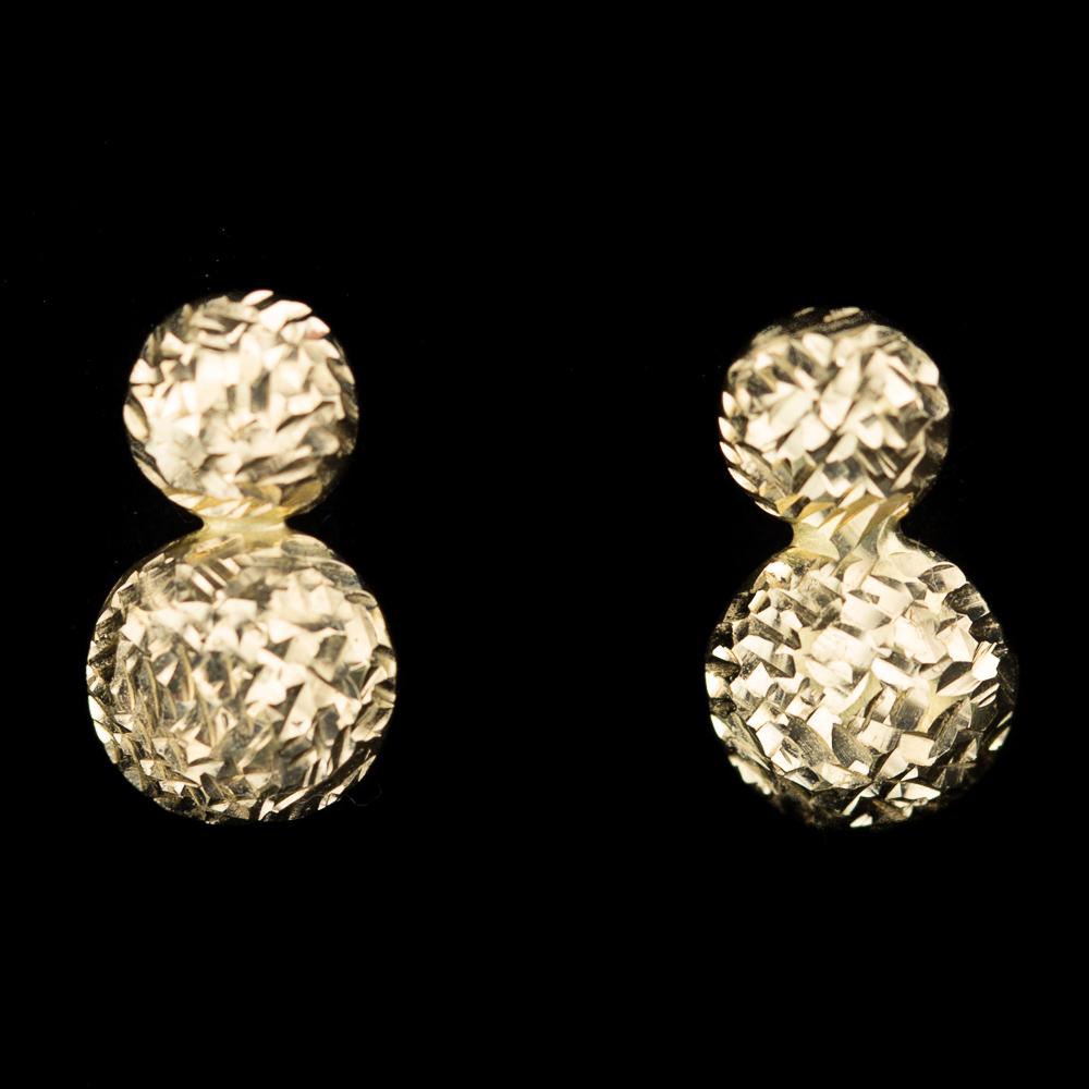 Schitterende gouden oorbelletjes van 18Kt goud