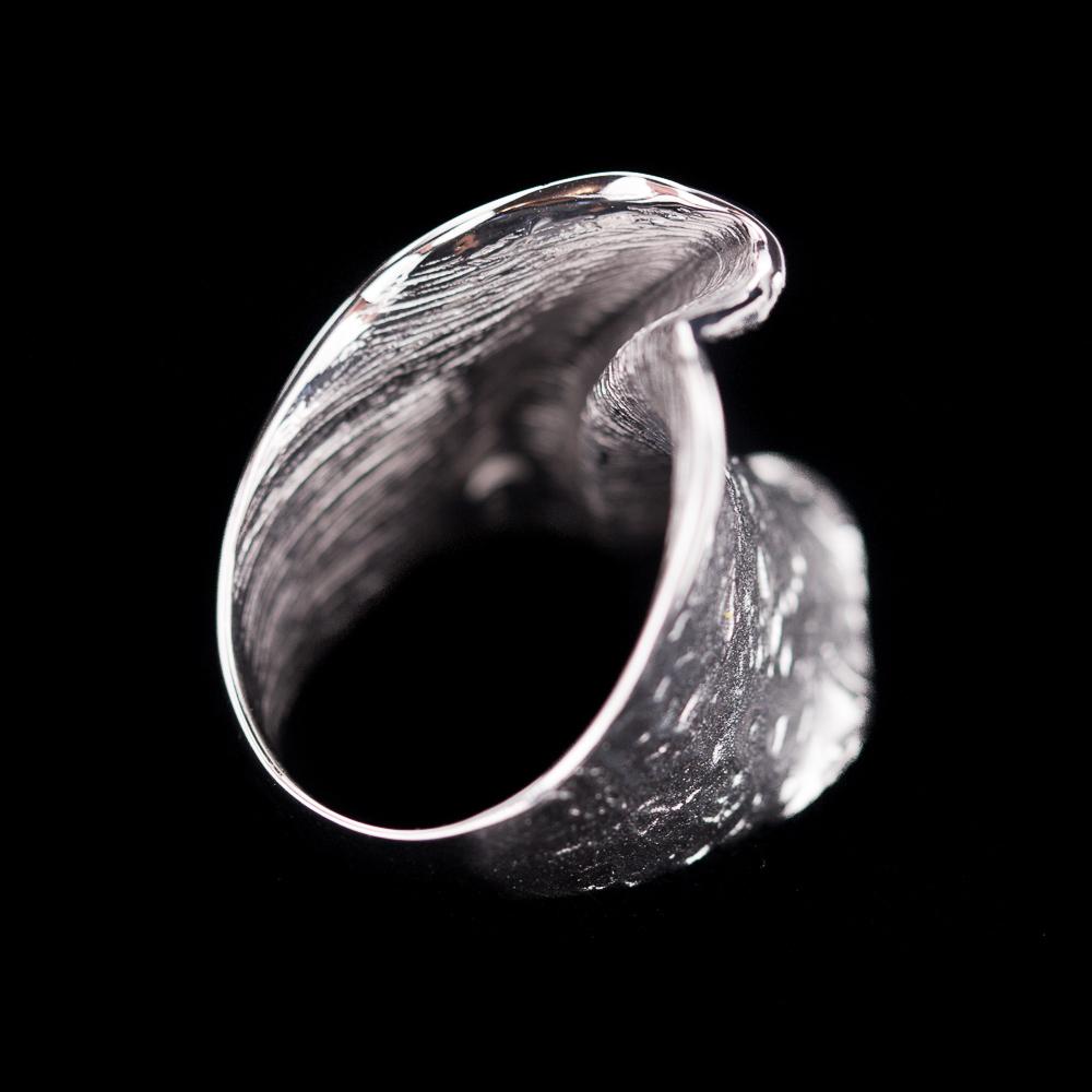 Chique zilveren ring, mat en gepolijst/ smallere versie
