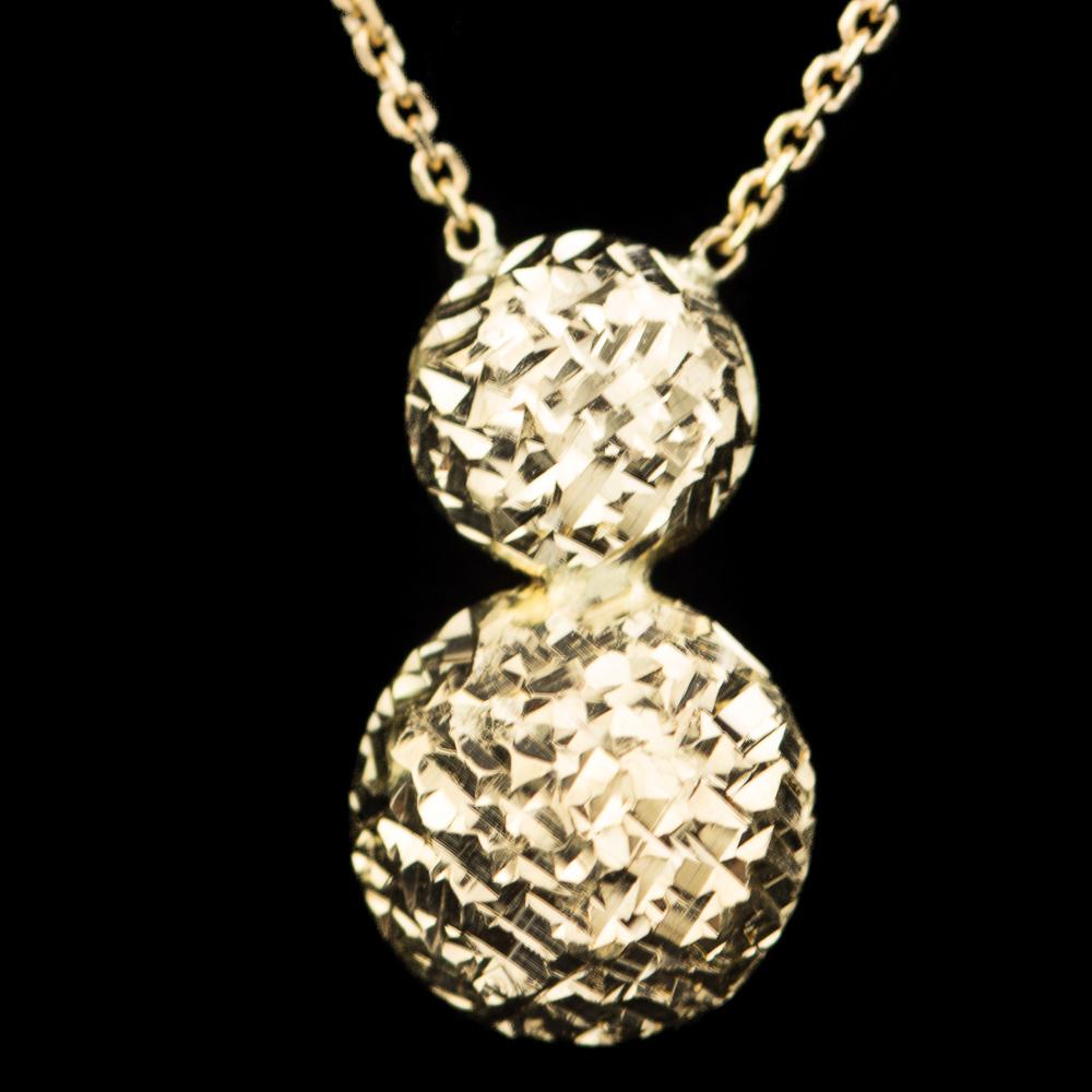 Gouden kettinkje 18Kt met een schitterend hangertje