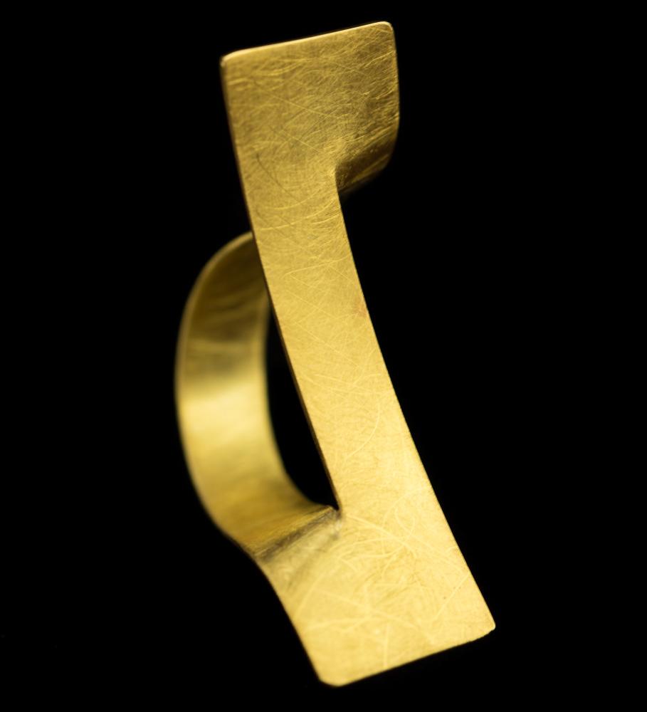 Vergulde en matte strakke ring