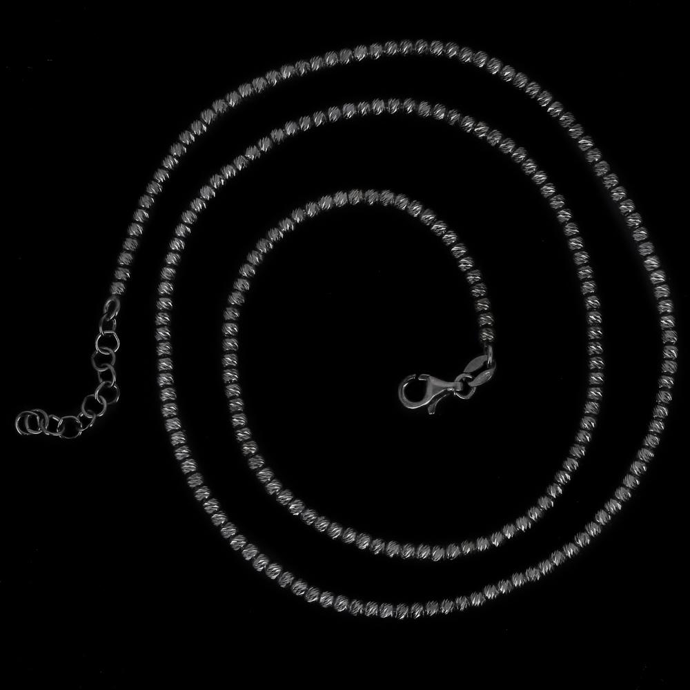 Italiaanse ketting van zwart zilver, diverse lengtes