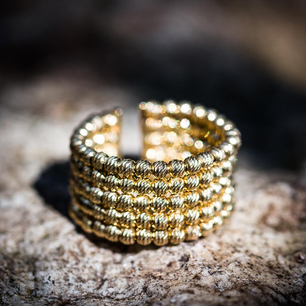 Italiaanse ring, 5 rijen en verguld