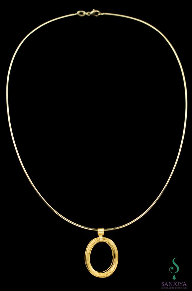 Handgemaakte vergulde en ronde hanger, met ketting