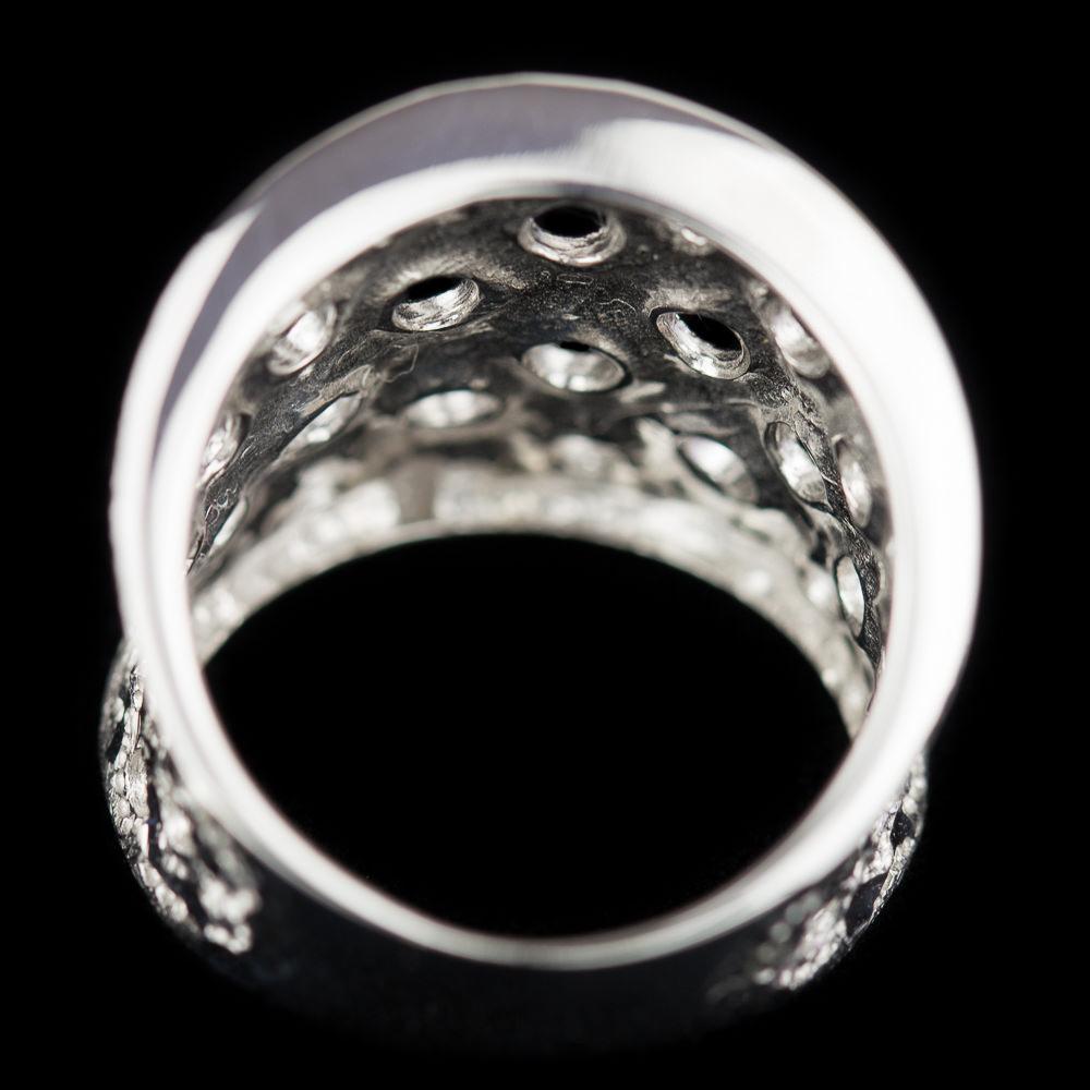 Zilveren ring met open cirkeltjes