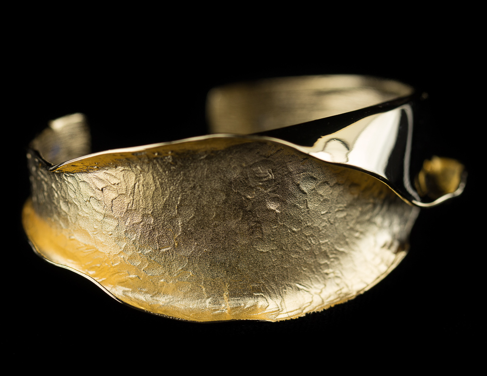 Vergulde armband mat en gepolijst