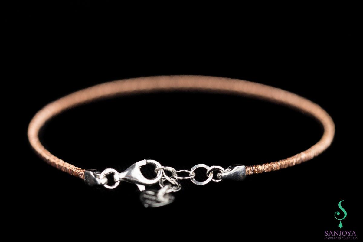 Verfijnde rosé armband van sterling zilver, 2mm