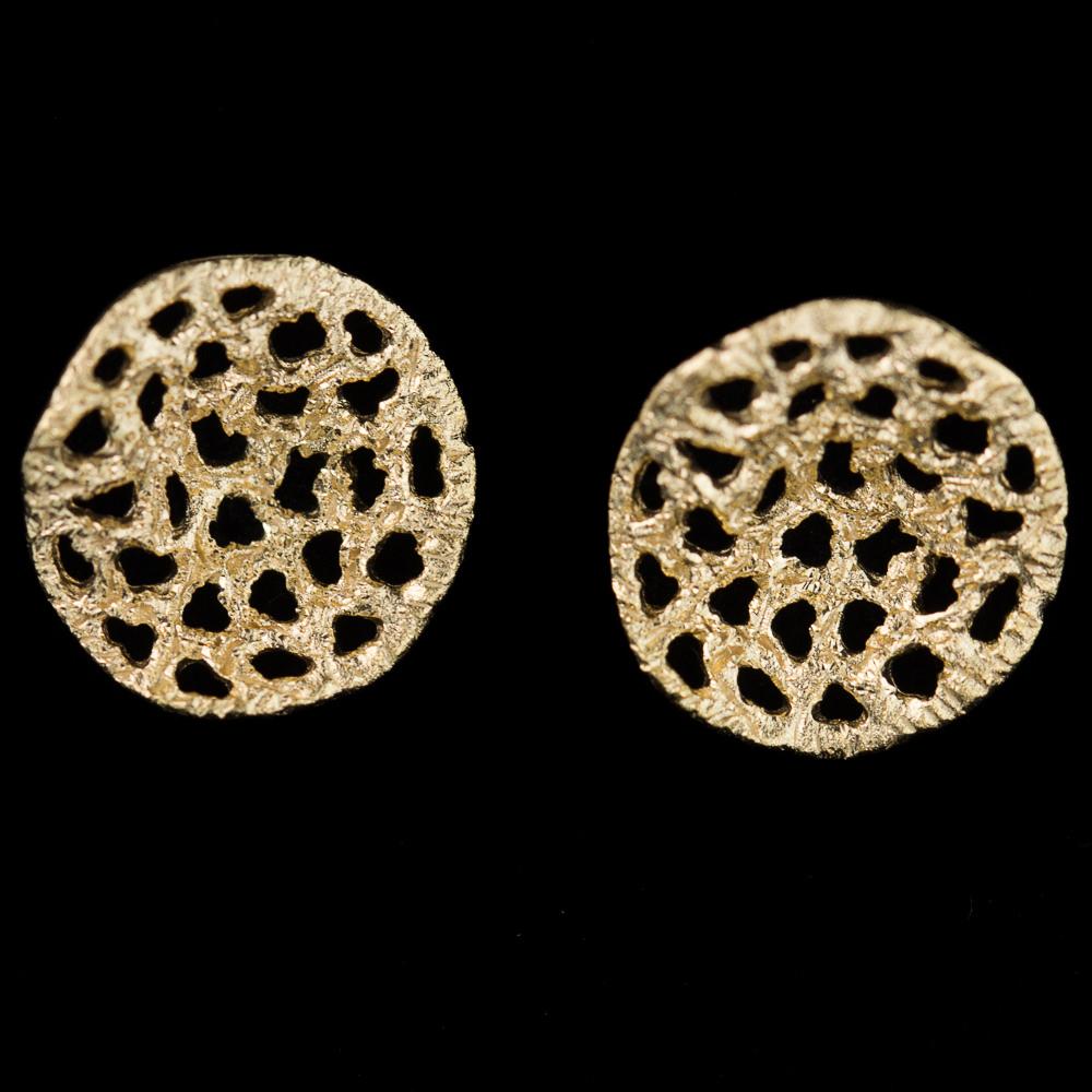 Verfijnde vergulde oorbellen met schitteringen