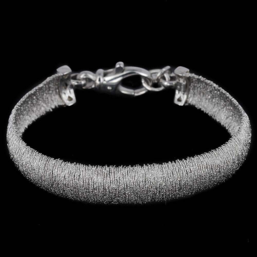 Elegante zilveren smalle armband
