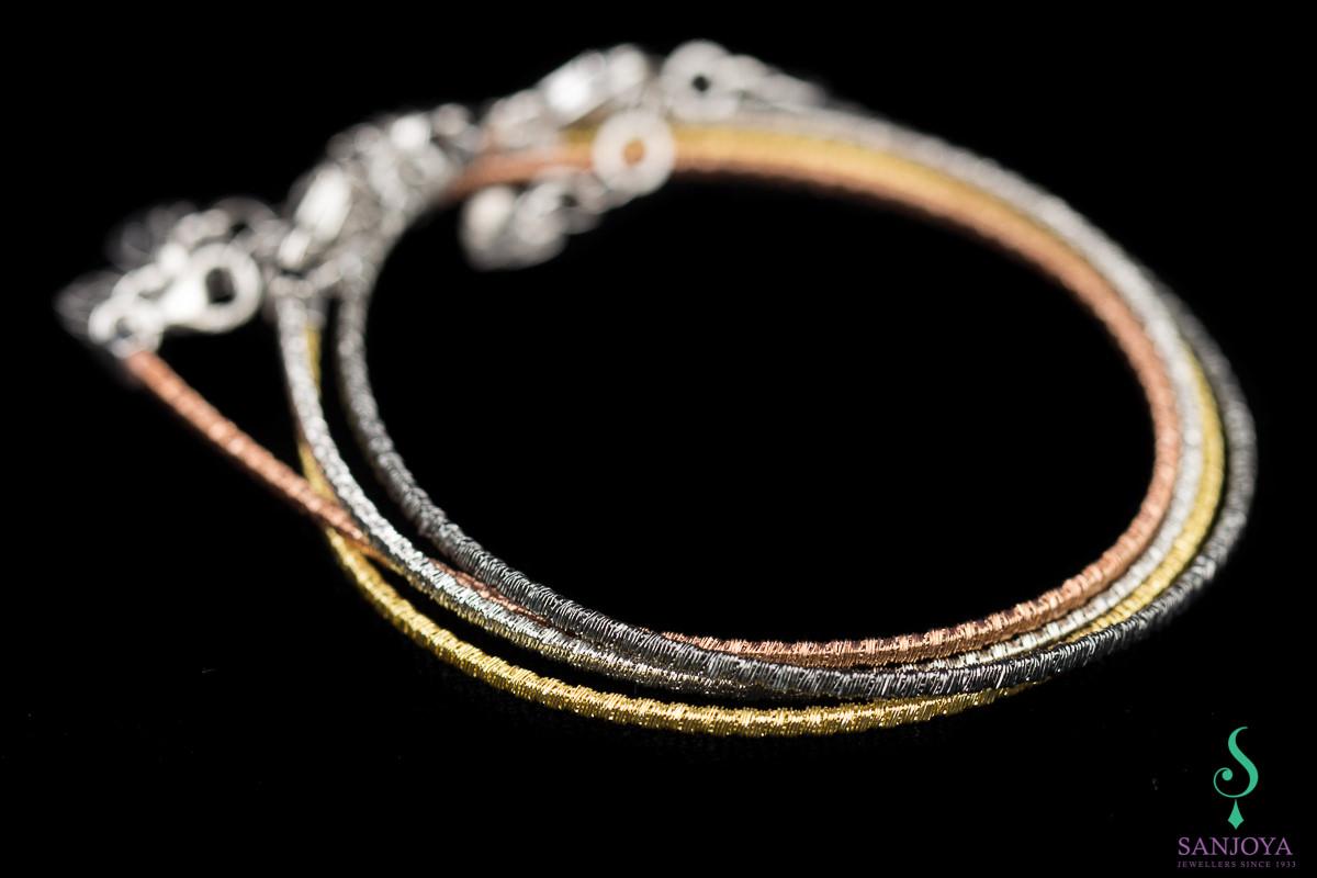 Verfijnde zilververgulde armband, 2mm