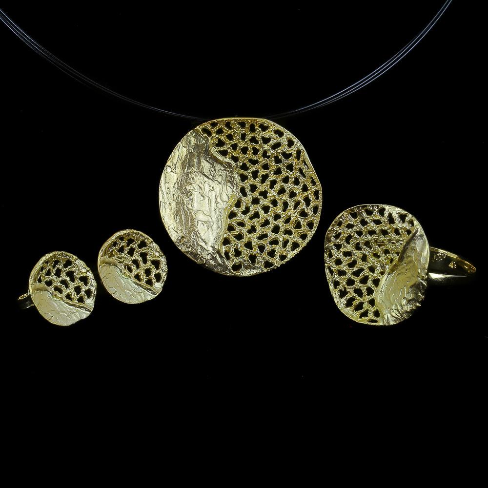 Bewerkte gouden oorbelletjes van 18kt goud